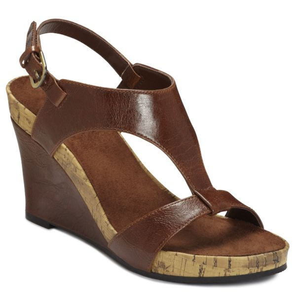 A2 by Aerosoles Women's 'Plush Above' Brown Cork Wedge Sandals