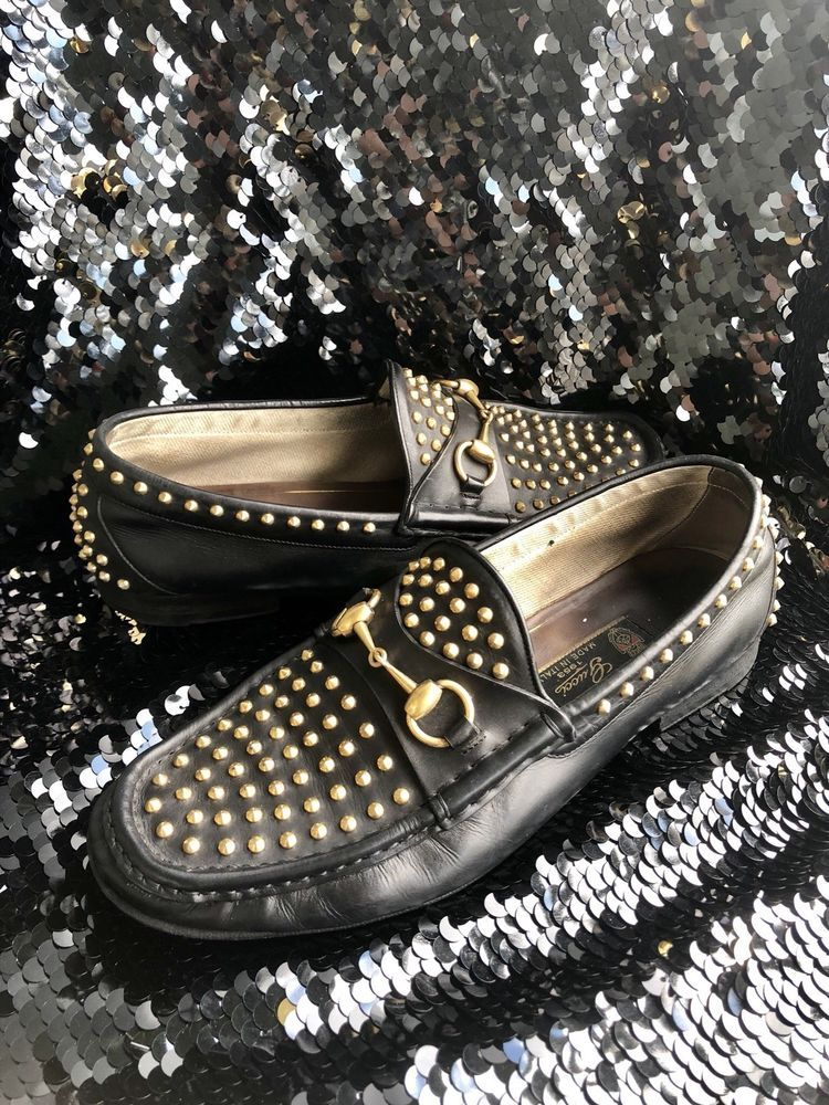 356f512714f GUCCI 1953 Cocktail Limited Ed. Studded Horsebit black Loafers  9.5 US   fashion  clothing  shoes  accessories  mensshoes  casualshoes (ebay link)