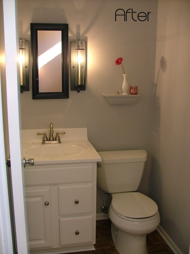 Remodeling Small Half Bathrooms With Images Small Half