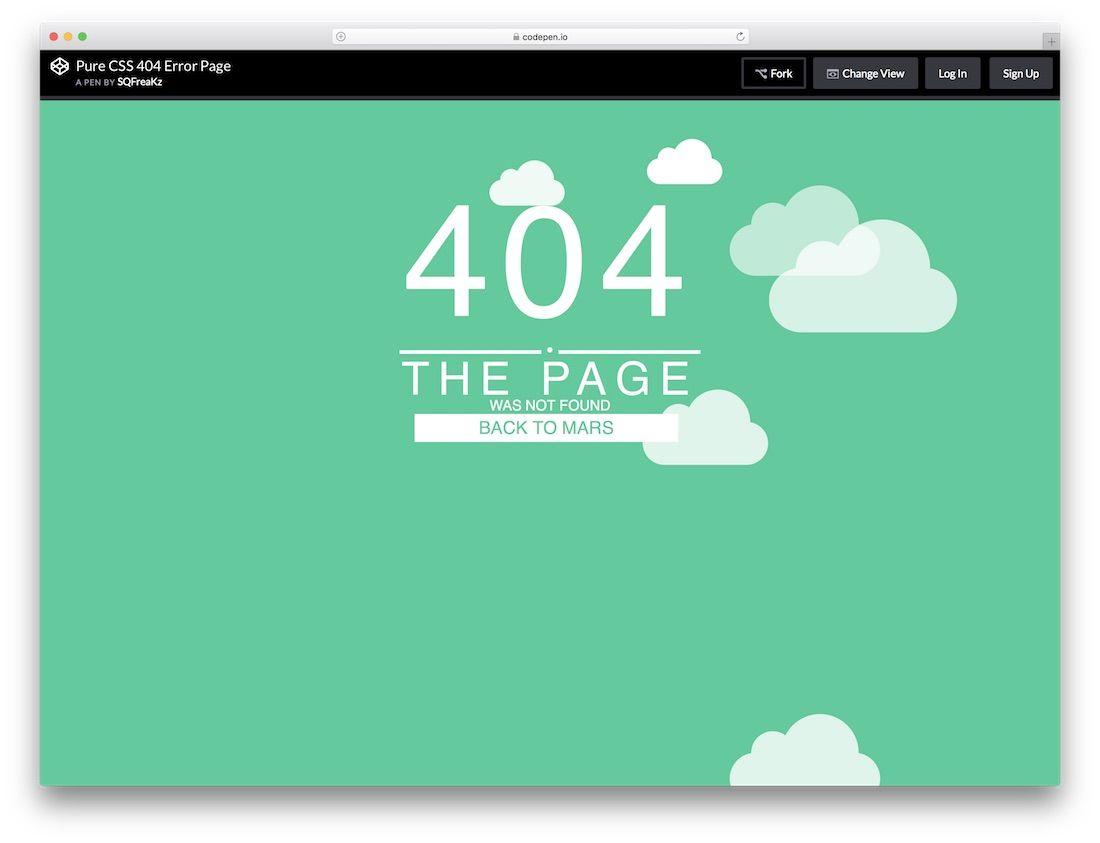 20 Best Free 404 Error Page Templates 2020 Colorlib Page Template Error Page Interactive Design