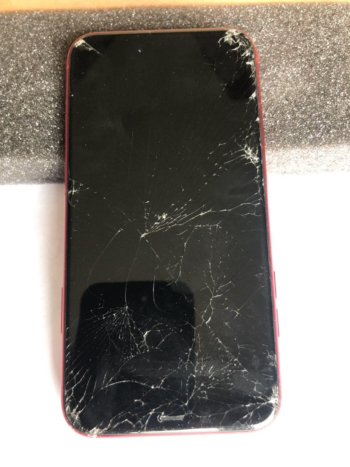 Iphone 11 Product Red 64 Gb Read Descr Cracked Phone Screen Live Wallpaper Iphone Broken Phone Iphone xs apple broken screen prank