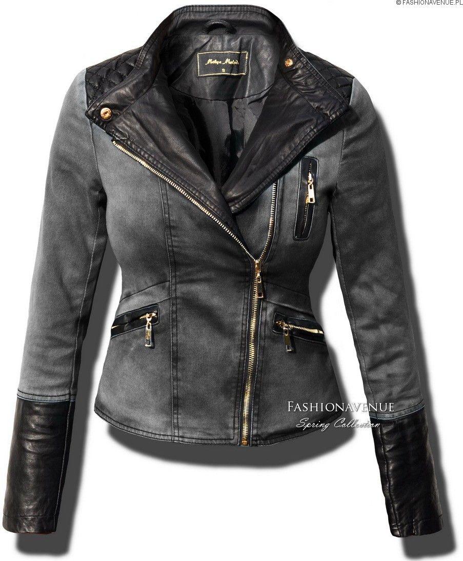 Kurtka Damska Skora Jeans 113 Fashion Shirt Dress Style Trendy Outfits