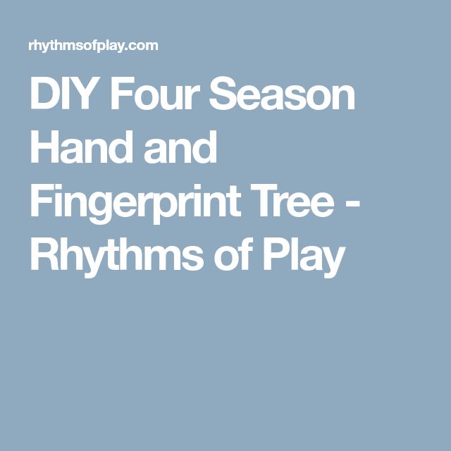 DIY Four Season Hand and Fingerprint Tree - Rhythms of Play