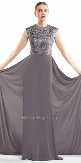 Seutache Bodice With Train Evening Gowns By Sue Wong   SUE WONG at ...