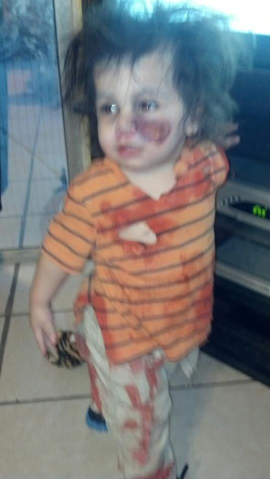 Gael my grandson as a zombie