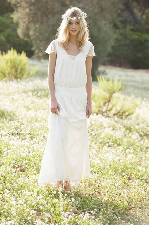 Robe de mariage bohème La Redoute x Mademoiselle