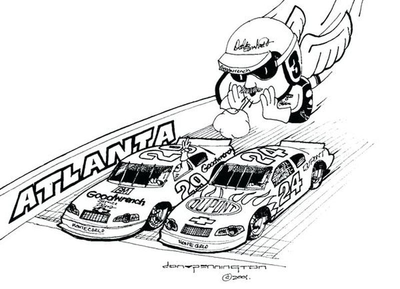 Easy Nascar Coloring Pages Printable Race Car Coloring Pages Nascar Cars Coloring Pages