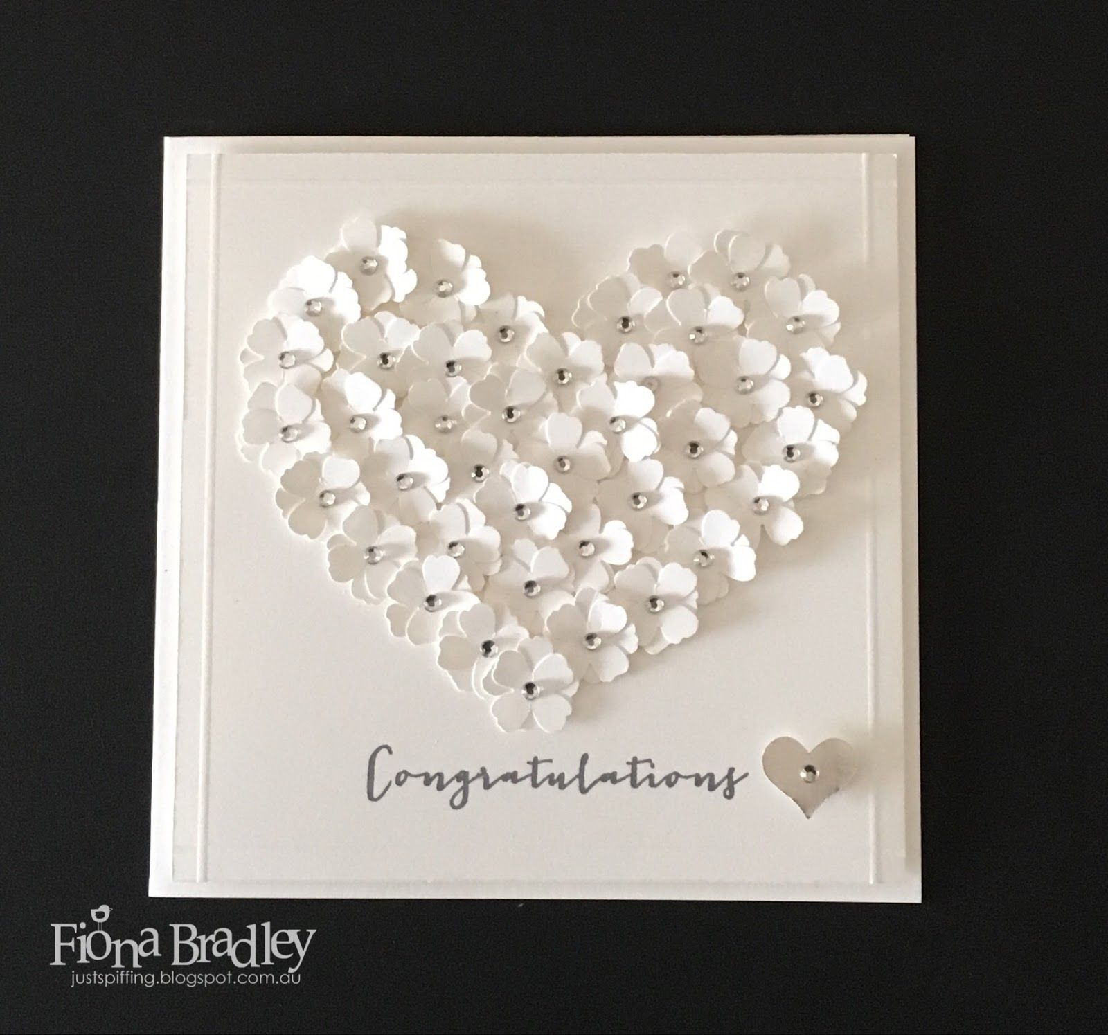 example0th wedding anniversary newspaper announcements%0A Congratulations  love heart flowers  wedding  engagement  Stampin u     Up    Just
