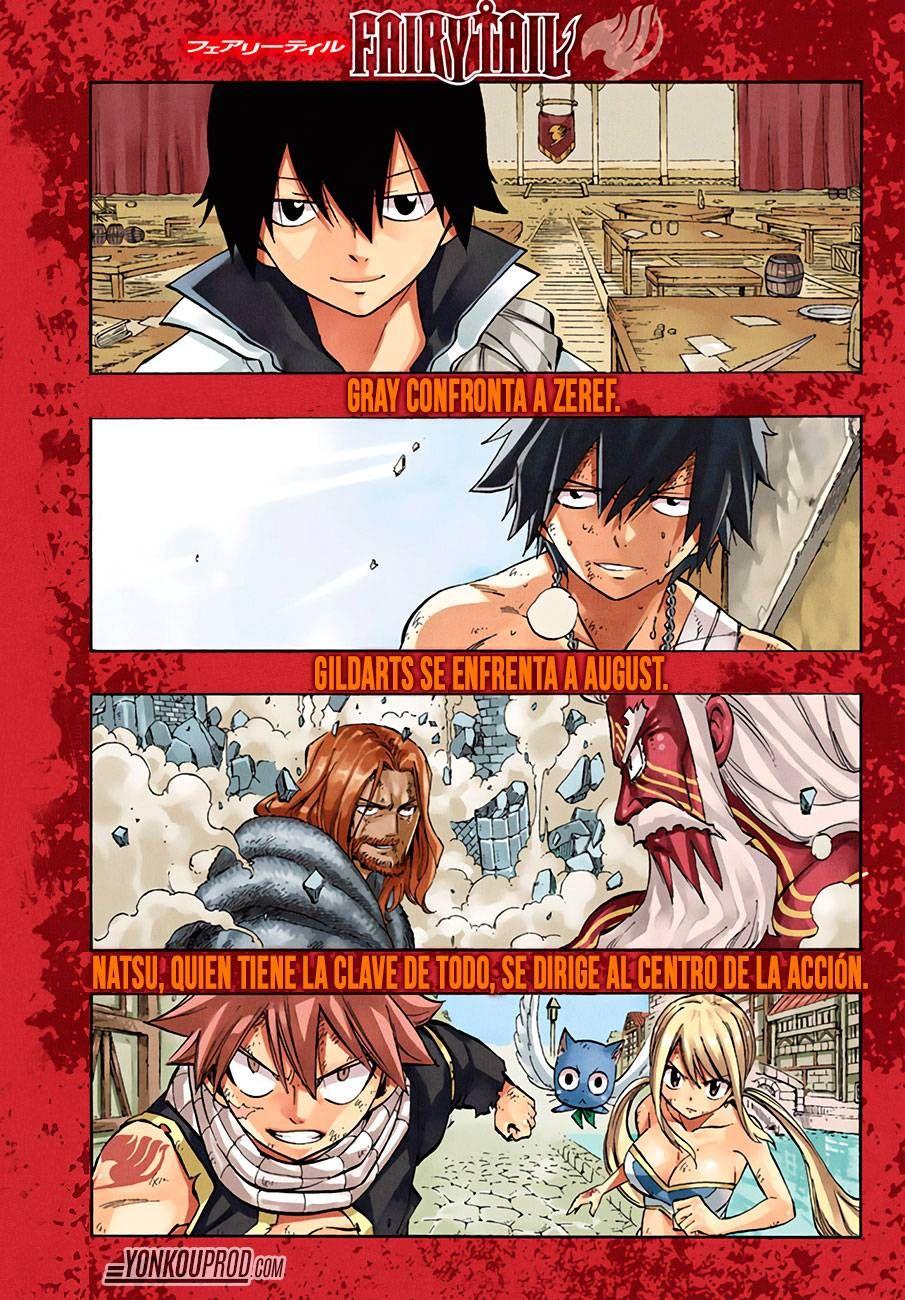 Portada a color - Zeref, Gray, Gildarts, Natsu, Happy y Lucy - Fairy Tail Manga 522