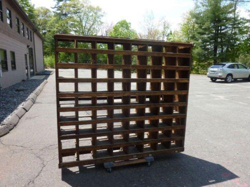 WOODEN-industrial-shoe-rack-stand-shelf-unit-69-h-x-77w