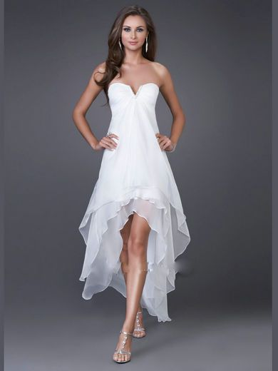 2011 La Femme Prom Gown 15033 Trendy High-Low Prom Dress  $120.00