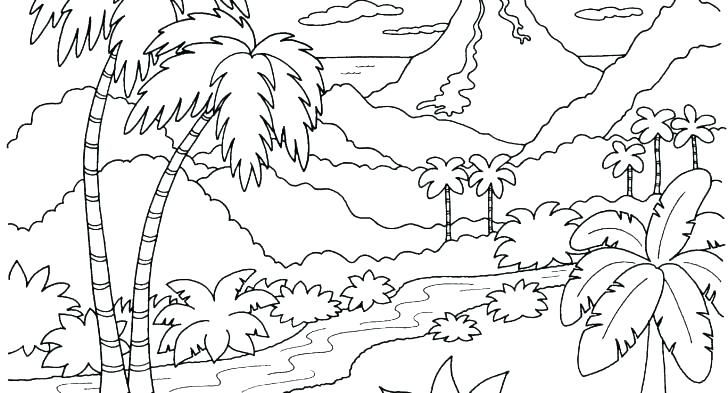 Image result for free printable landscape coloring pages ...