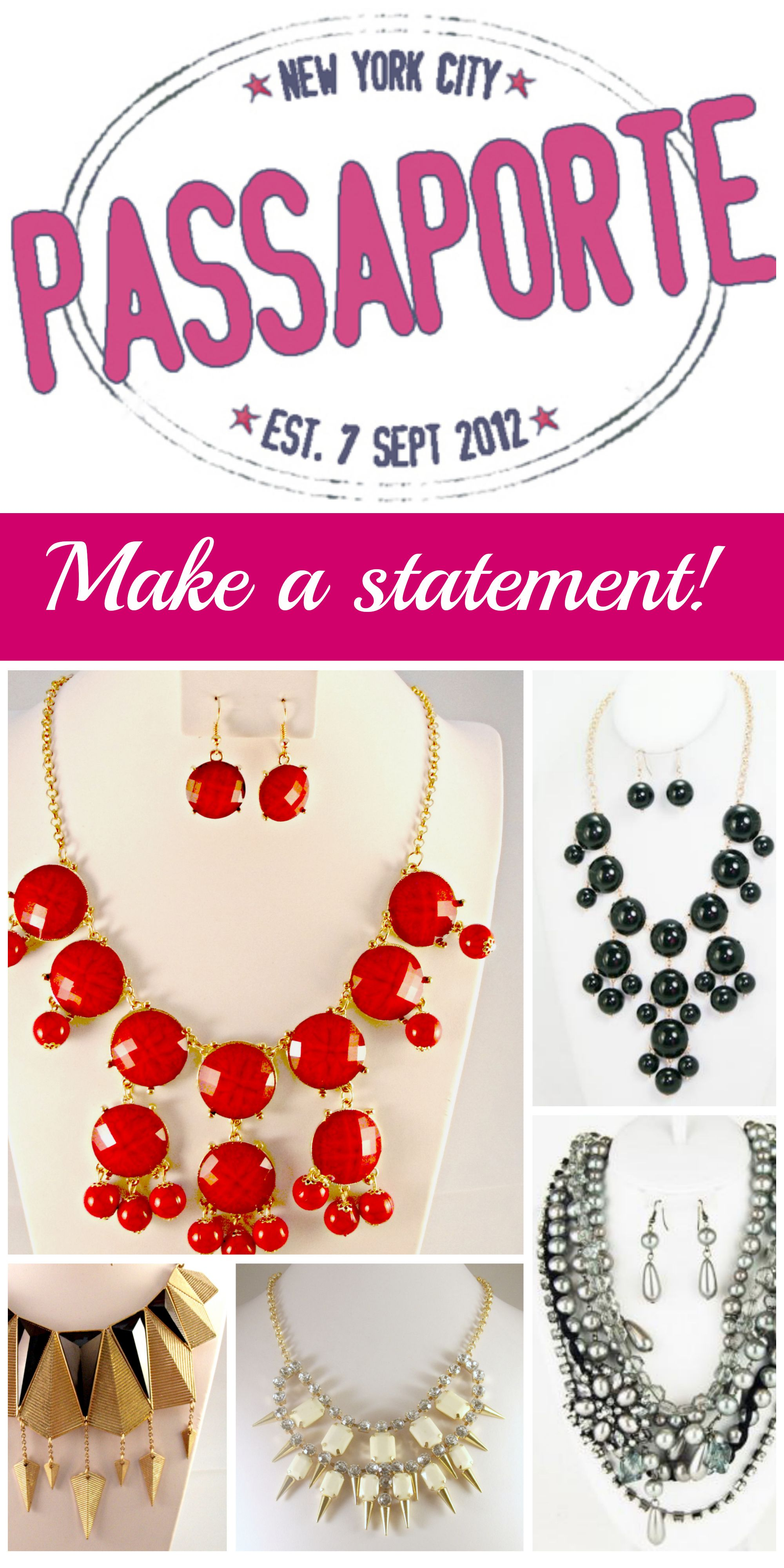 Must Repin! Make a statement with necklaces from ShopPassaporte.com  #Necklace #StatementNecklace #Jewelry #FashionJewelry #Baubles