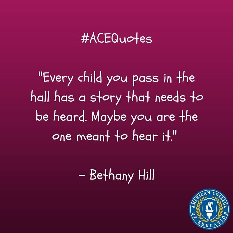 Bethany Hill Inspirational Education Quote