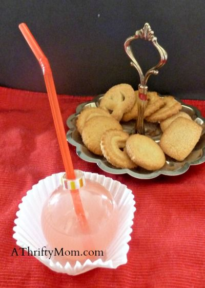 Milk and Cookies with Santa --> clear ornaments as cups~party ideas, #party,#christmas, #ornaments, , #christmasparty, #easydecor, #thriftydecor, #partyplanning, #newyears,...
