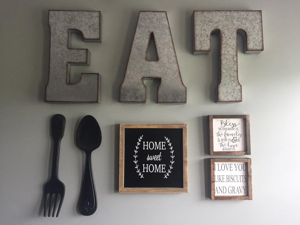Kitchen Decor Wood Signs Gallery Wall Farmhouse Decor