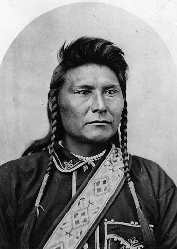 Nez Perce Chief Joseph Poses With Decorated Sash, Bismark, North Dakota, 1877