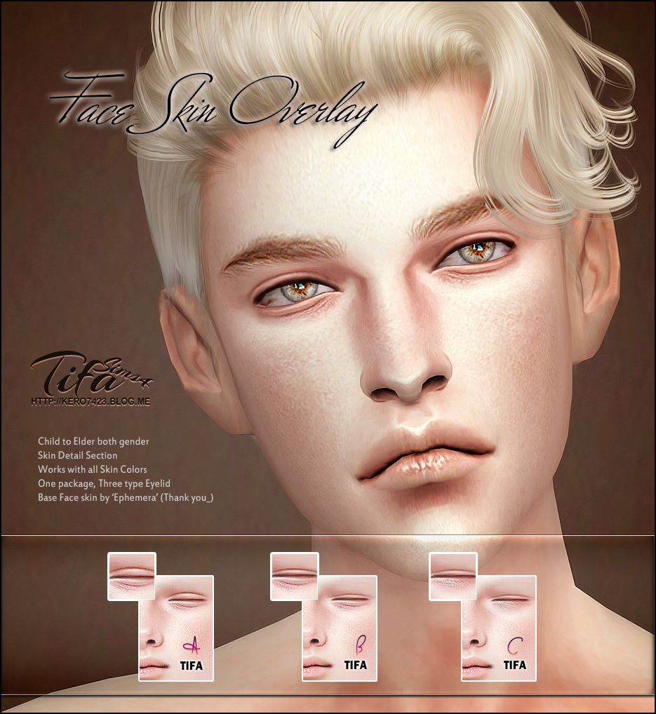 Lana CC Finds - Sims 4  Face Skin Overlay Male & Female by