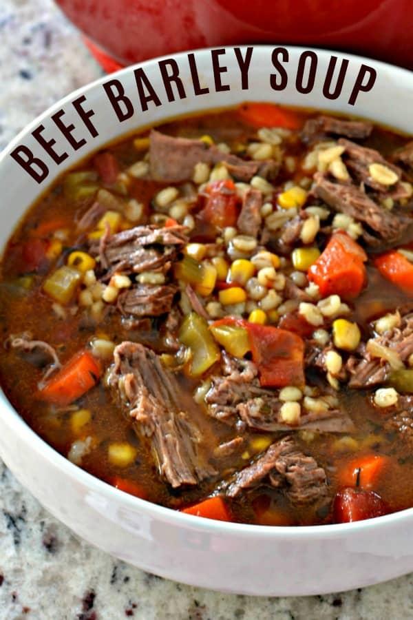 Beef Barley Soup Recipe Beef Barley Soup Recipes Healthy Soup Recipes Soup Recipes