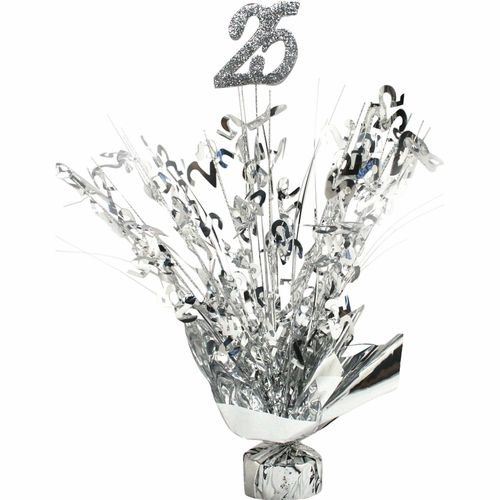 25 Year Wedding Anniversary Party Ideas: 25th Anniversary Silver Centerpiece In 2019