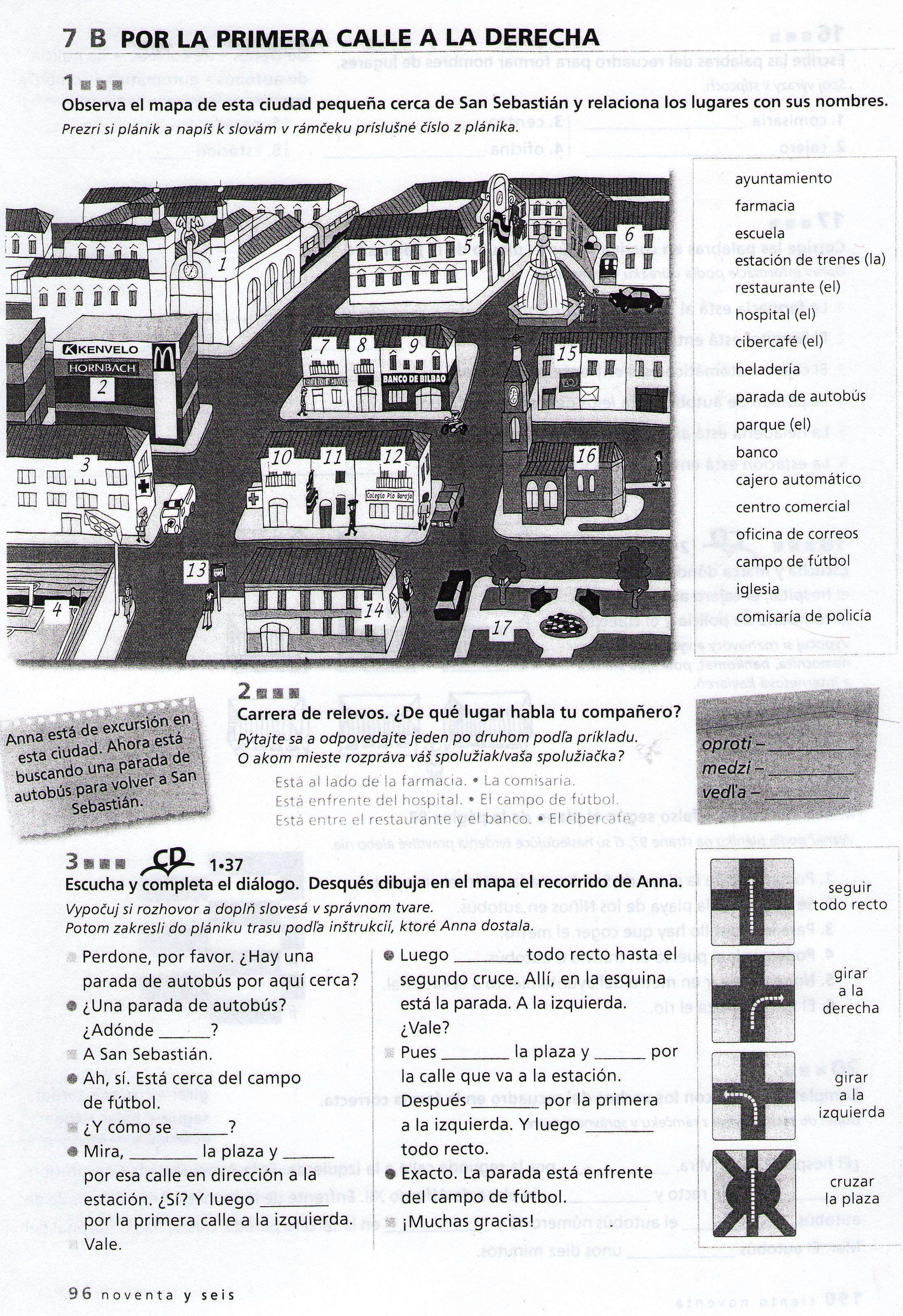 La ciudad (vocabulario + ejercicio) | Ciudad unit | Learning spanish ...