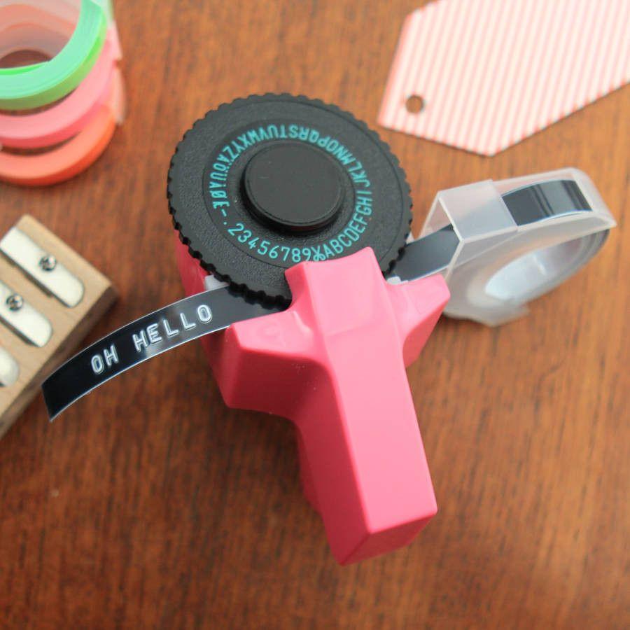 Dymo Embosser Tape Home Embossing Label Maker Machine Office Labeling