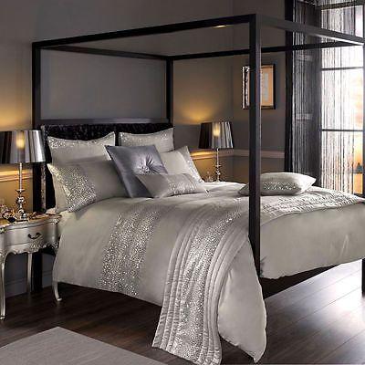 Details zu Kylie Minogue Home Leoparden Silber Luxus Verziert - luxus bettwasche kylie minogue