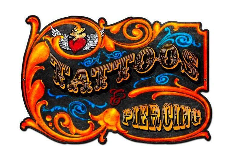 tattoo shop wall signs