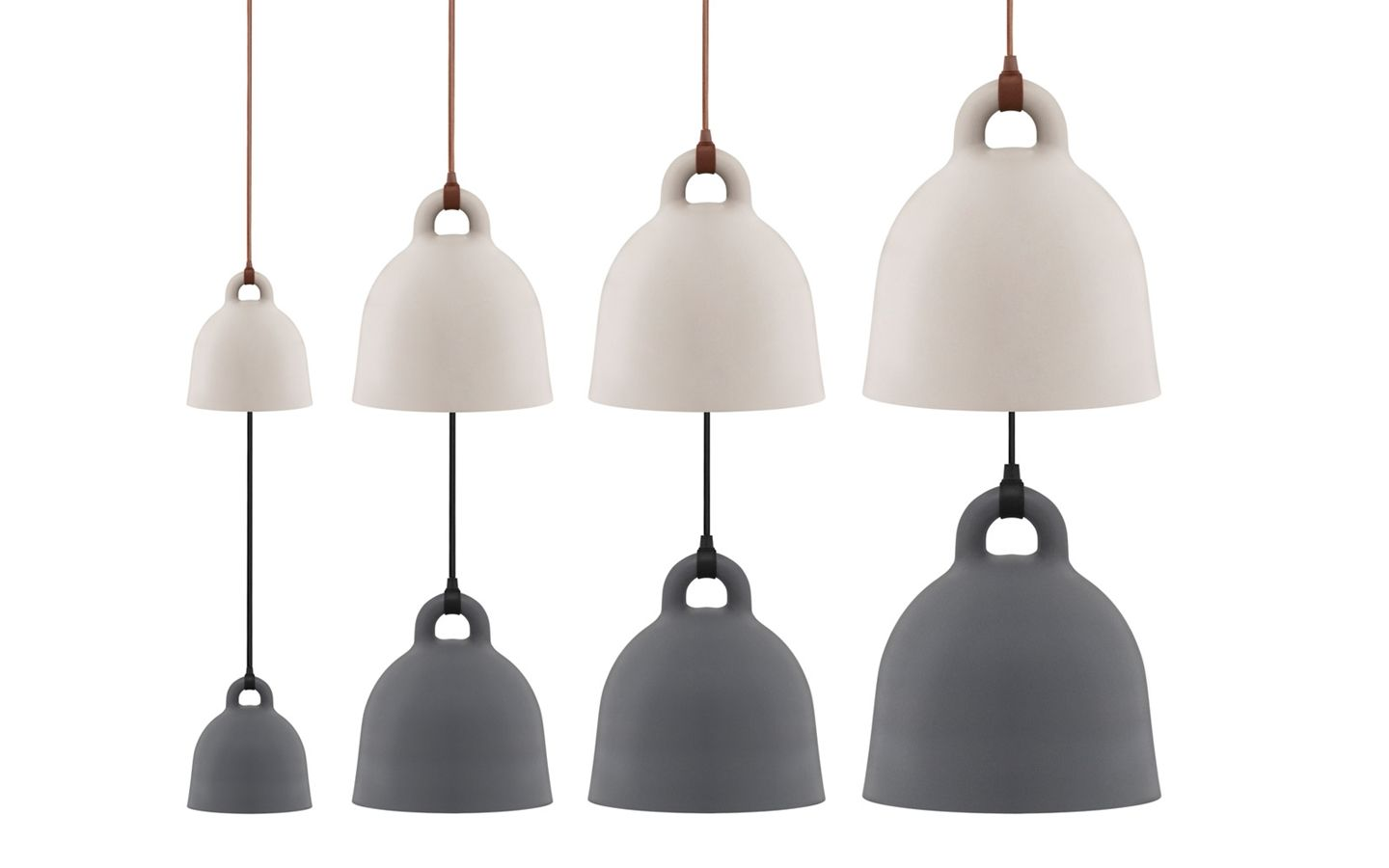 Bell Lamp Large A Robust And Minimalistic Ceiling Lamp In Matte Grey Normann Copenhagen Bell Lamp Normann Copenhagen Lamp Pendant Light