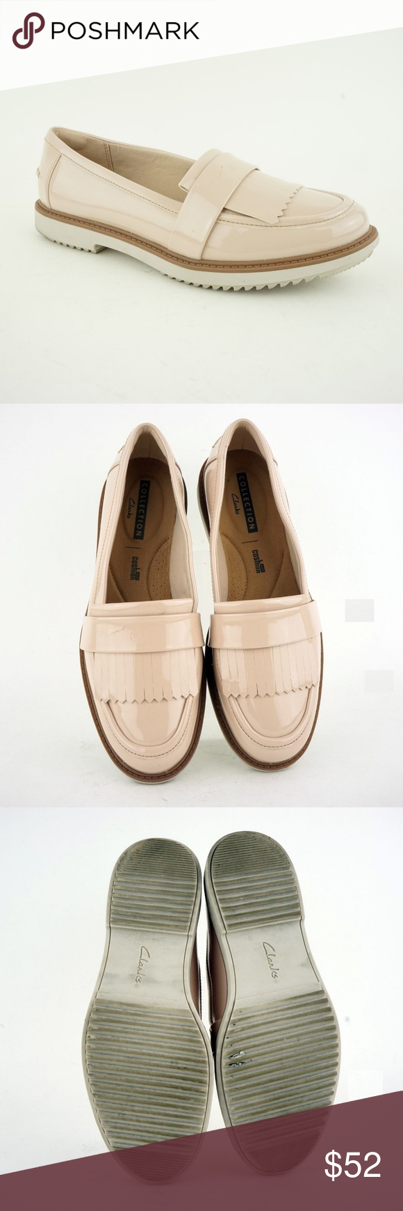 cab3f16a7d1 Clarks Women s Raisie Theresa Loafers Dusty Pink Pre-owned Clarks Women s  (Sz 7.5)