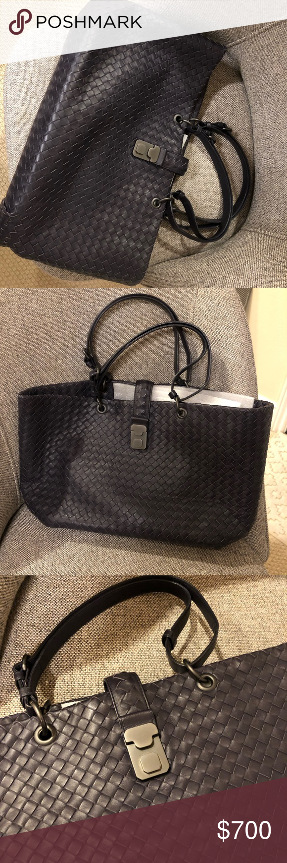 Borrego Veneta Bag Mint Condition Carefully Stored In Dust Bag And Barely Used 100 Authentic Posh Free Authentication Bags Bottega Veneta Bags Purple Grey