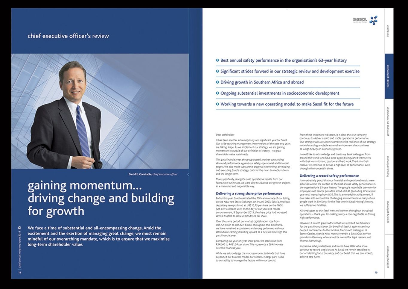 Sasol Annual Integrated Report Annual Financial Statements And