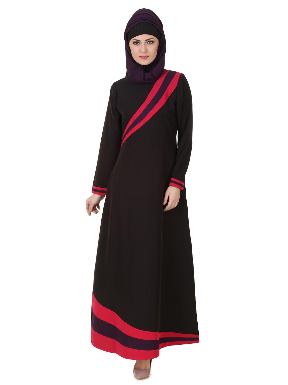Lace umbrella abaya  MyBatua Shimah Kashibo Black Abaya  Available in sizes XS to XL