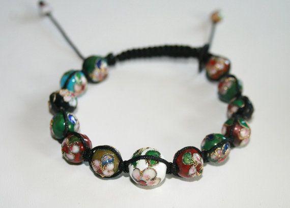 Cloisonne Shambala Bracelet  Macrame Bracelet  Handmade Bracelet  Beaded Bracelet Friendship Bracelet  Beaded Bracelet  Special Gift #Christmasgifts #designerjewelry
