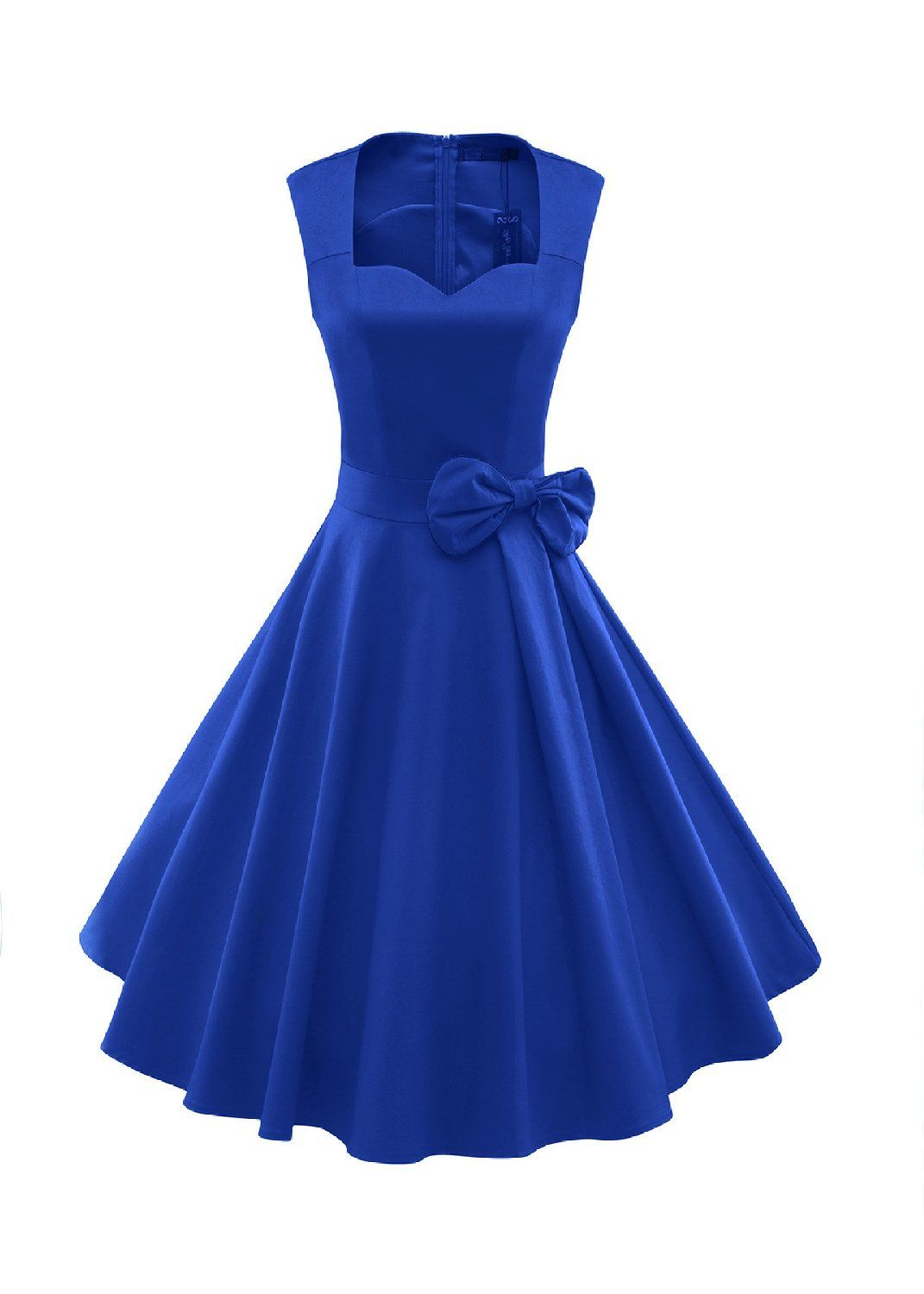 9d2892bab85 ILover Women s 1950s Style Vintage Rockabilly Swing Bow-knot Party Dress   Amazon Fashion