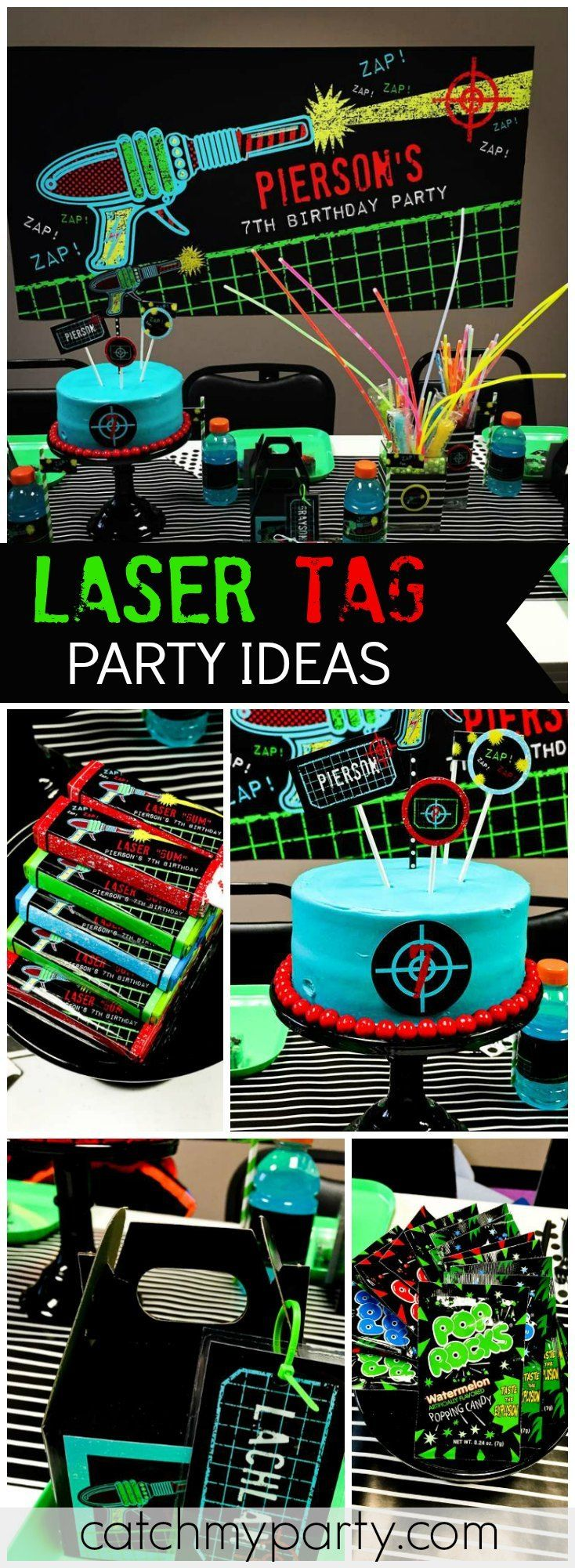 Check Out This Awesome Laser Tag Birthday Party! See More Party Ideas At  CatchMyParty.