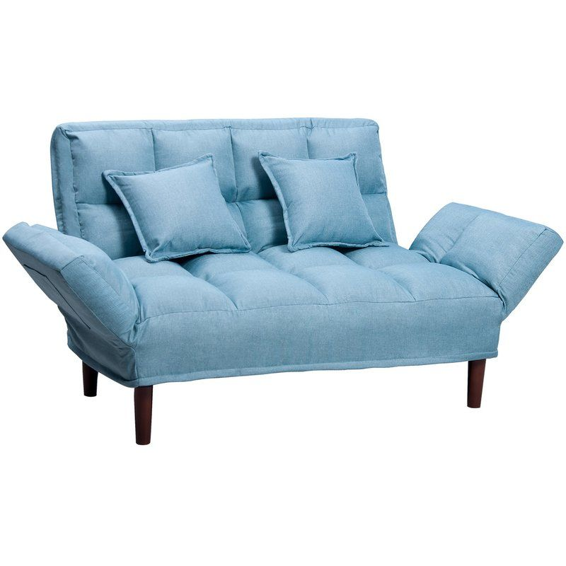 Munos Convertible Sleeper With Images Sleeper Sofa Sky Blue