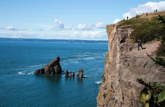 Cape Split Hiking Trail   Shooting from the edge at Cape Split - Picture of Cape…