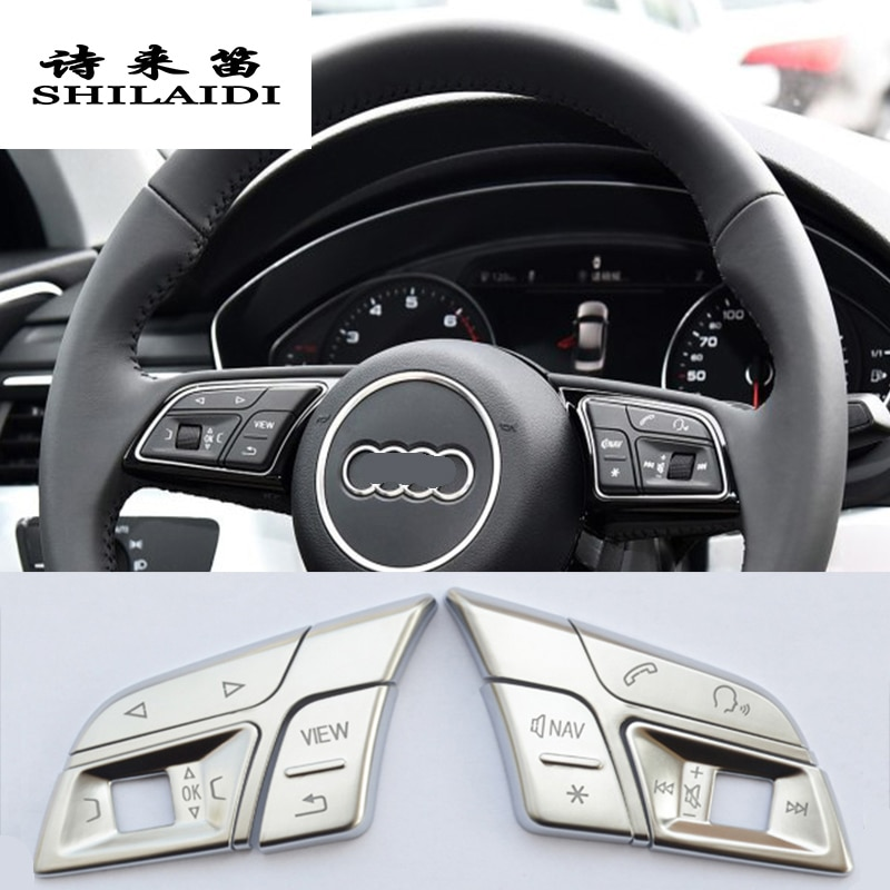Carbon Fiber Car Inner Window Switch Panel Cover Trim Fit For Audi Q5 2013-2017