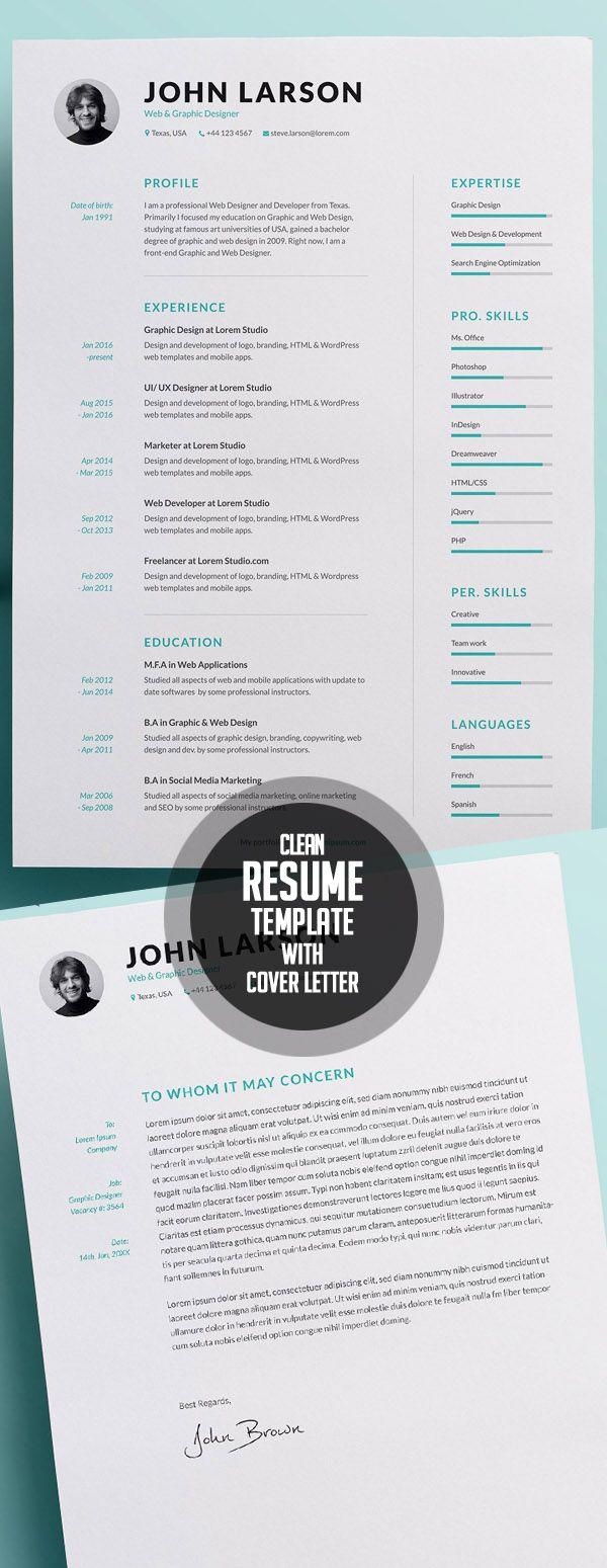 2018 Resume Templates 50 Best Resume Templates For 2018  2  Рабочие Моменты