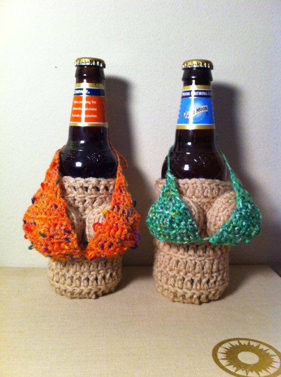 Removable Handmade Crocheted Mini Bikini ---BIKINI TOP ONLY--- For a ...