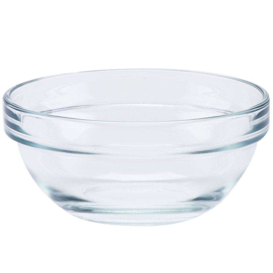 "This 1.25 oz. ingredient bowl from Cardinal is made of fully tempered glass. The tempering process strengthens the entirety of the glass against thermal and mechanical shock, so especially hot and cold liquids are not a problem for this bowl. <br><br><b><u>Overall Dimensions:</b></u><br>Top Diameter: 2 1/3""<br>Bottom Diameter: 1"" <br>Capacity: 1.25 oz."