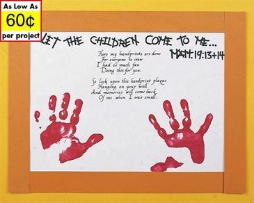 Handprint Poem with Scripture Craft Kit   Church-Kids' Activities