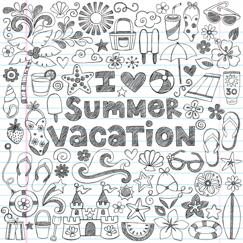 Summer Vacation Doodle Page | Doodle pages, Notebook doodles ...