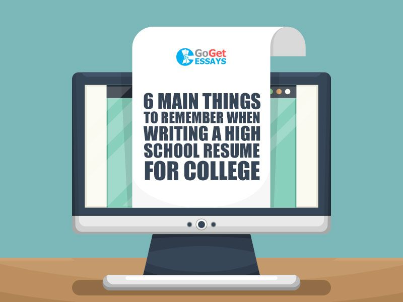 Writing a High School Resume for College GoGetEssays articles - high school resume for college