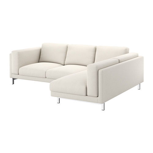 Nockeby Cover For 3-seat Sectional, Right, Tallmyra Light Beige ... Beige Wei Ikea