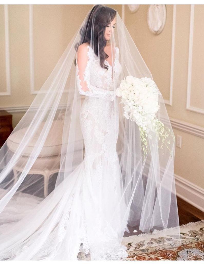 Long Blusher Sheer Drop Wedding Veil Cathedral Veil Illusion Etsy Wedding Dresses Wedding Bridal Veils Drop Wedding Veils [ 1024 x 794 Pixel ]
