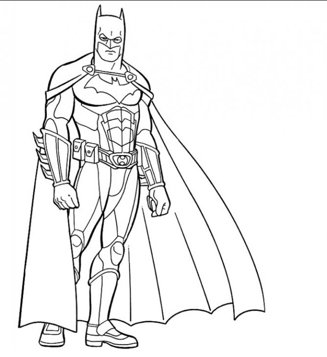 Batman The Dark Knight Free Printable Coloring Sheet