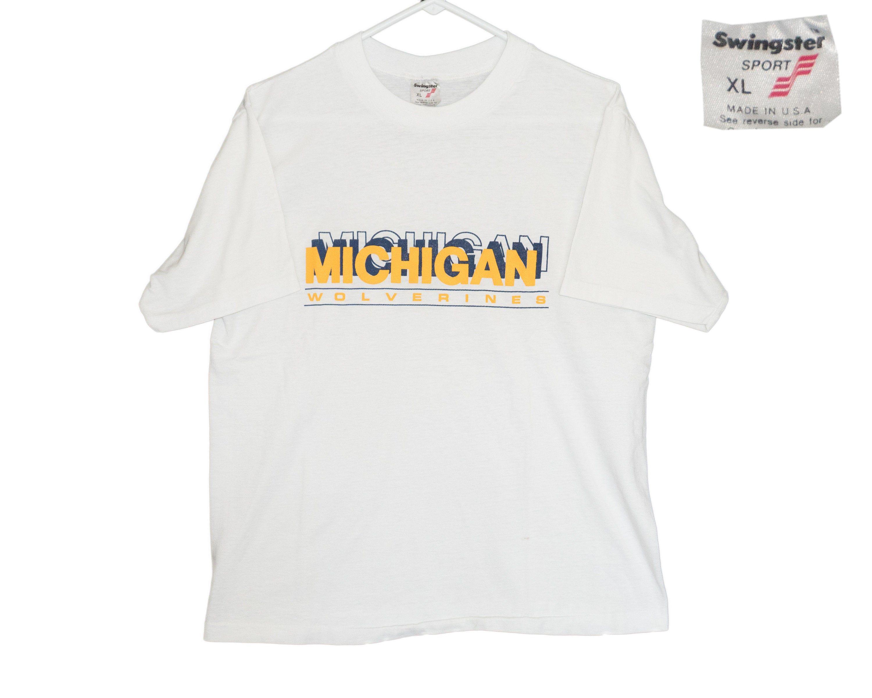 Vintage University Of Michigan Wolverines Um U Of M Block 70s Etsy University Of Michigan Wolverines White Tees Michigan Wolverines [ 2400 x 3000 Pixel ]