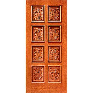 Door Emporium   Model # 2 Carved Red Mahogany 8 Panel Solid Wood Door